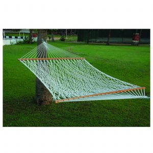 Double Hammock (Polyester Rope – White) 4'7 x 13′