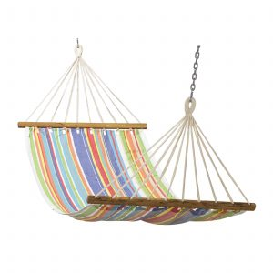 Hammock (Cotton Fabric – Multi-stripe) 3′ x 11′