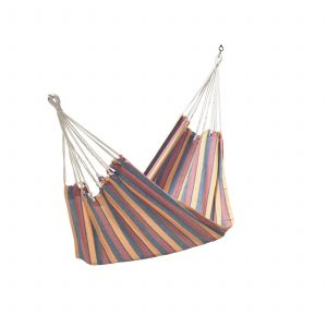 Hammock (Cotton Fabric – Orange/yellow-stripe) 3′ x 11′