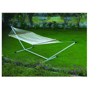 Hammock (Polyester Rope – White) 4′ x 11′