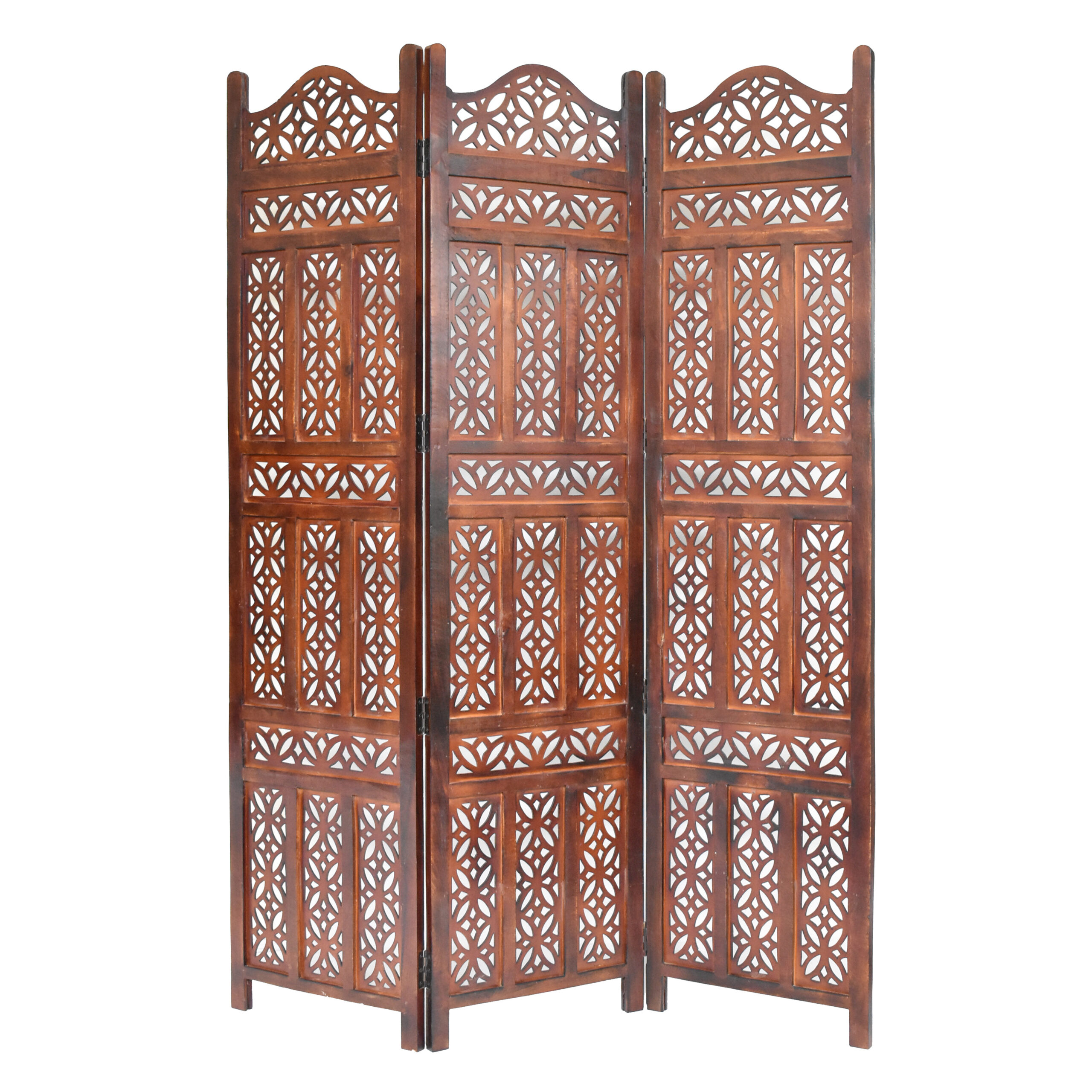 Alegreia 3 Panel Wood Screen