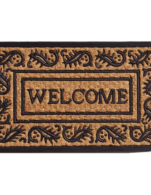 """Border Welcome Doormat 18"""" x 30"""""""