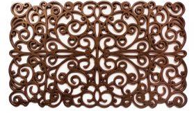 """Bronze Scroll Rubber Doormat 18"""" x 30"""""""