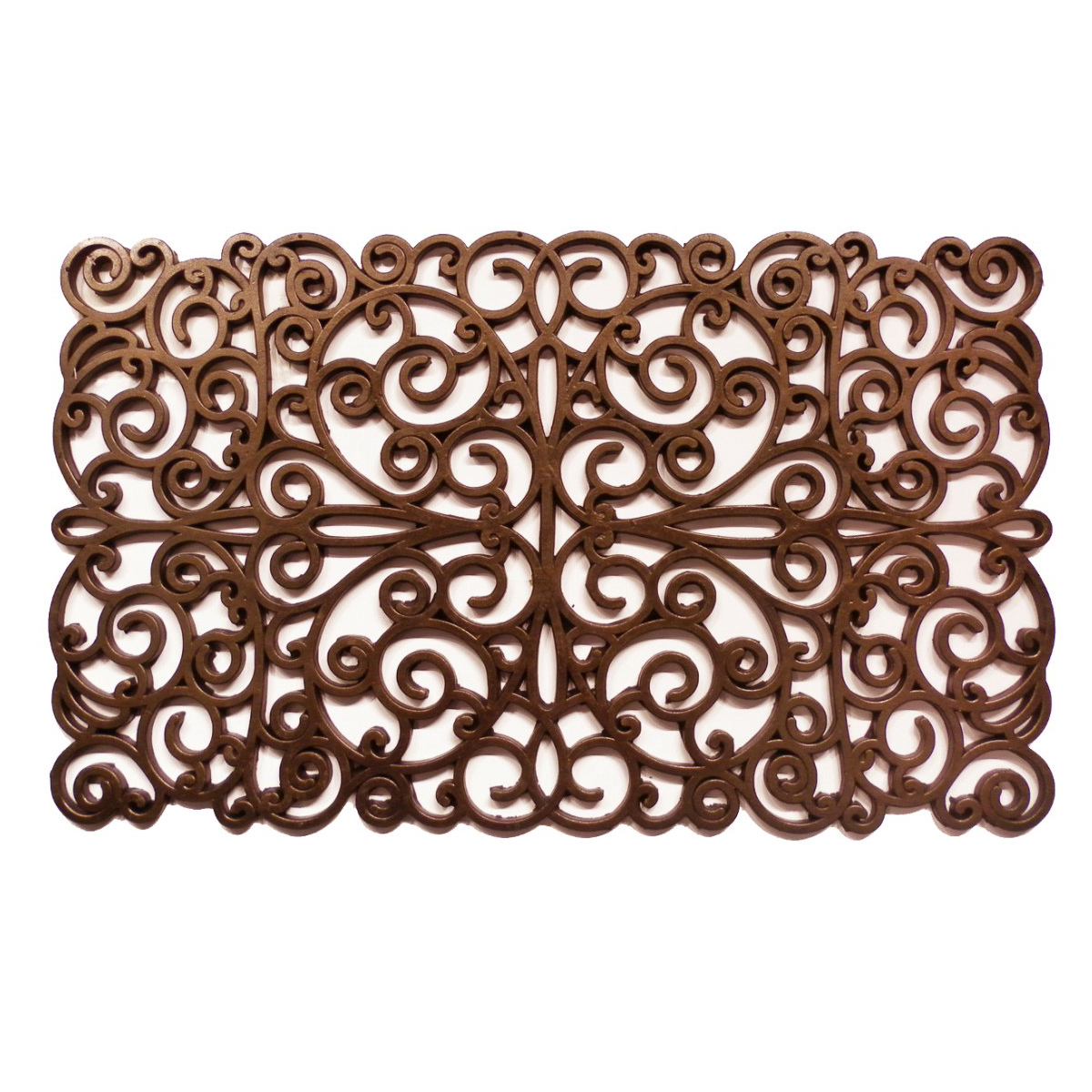 "Bronze Scroll Rubber Doormat 18"" x 30"""