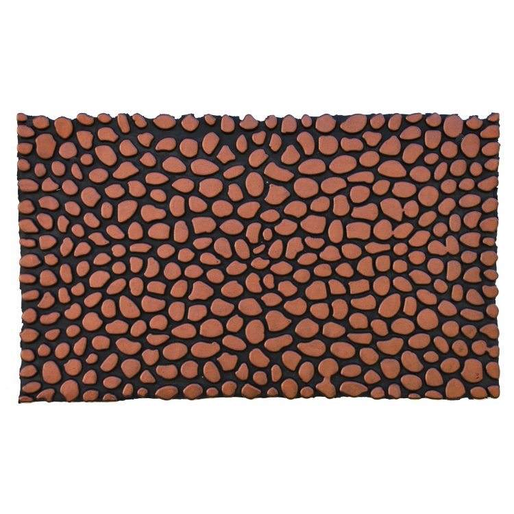 "Pebbles Bronze Rubber Doormat 18"" x 30"""