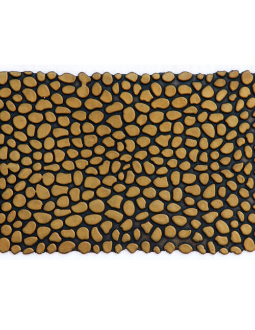 "Pebbles Gold Rubber Doormat 18"" x 30"""