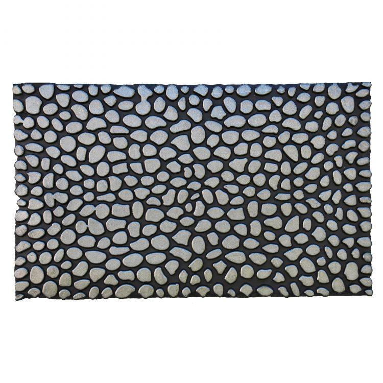 """Pebbles Silver Rubber Doormat 18"""" x 30"""""""