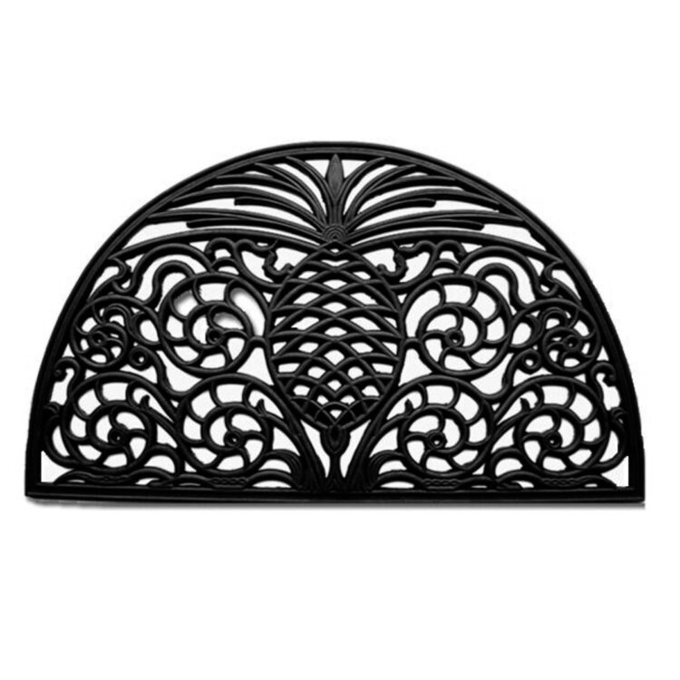 "Pineapple Grandeur Rubber Doormat 18"" x 30"""