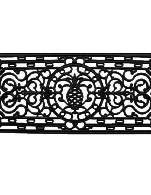 Pineapple Heritage Rubber Doormat 1'5 x 3'5