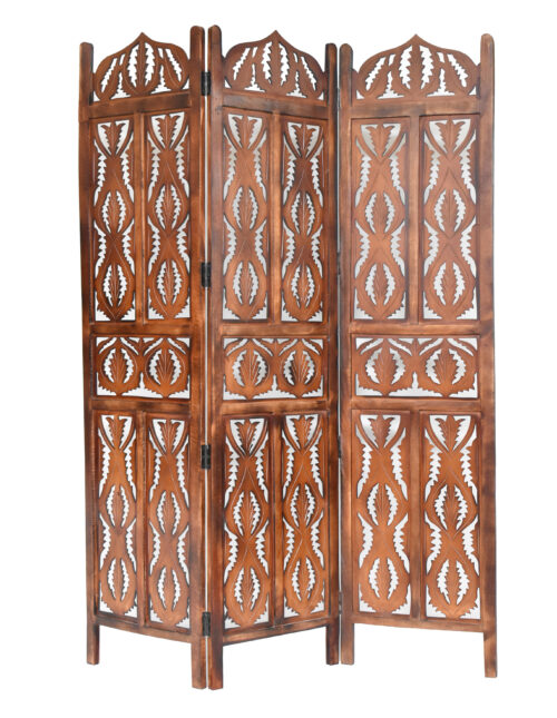 Pinnacle 3 Panel Wood Screen