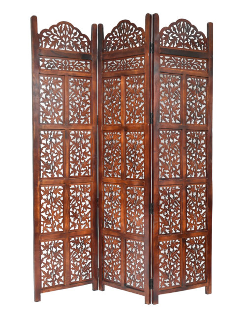 Victoria 3 Panel Wood Screen