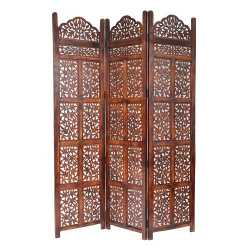 Victoria 3 Panel Wood Screen