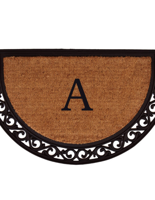 Ornate Scroll Monogram Doormat