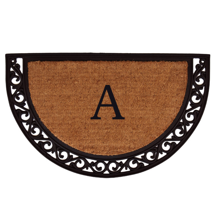 Ornate Scroll Monogram Doormat