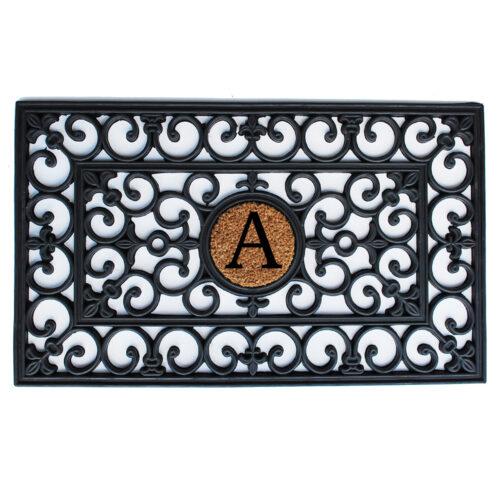 Rubber Monogram Doormat