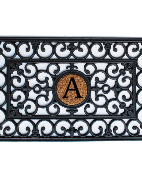 Rubber Monogram Doormat