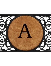 Armada Circle Monogram Doormat