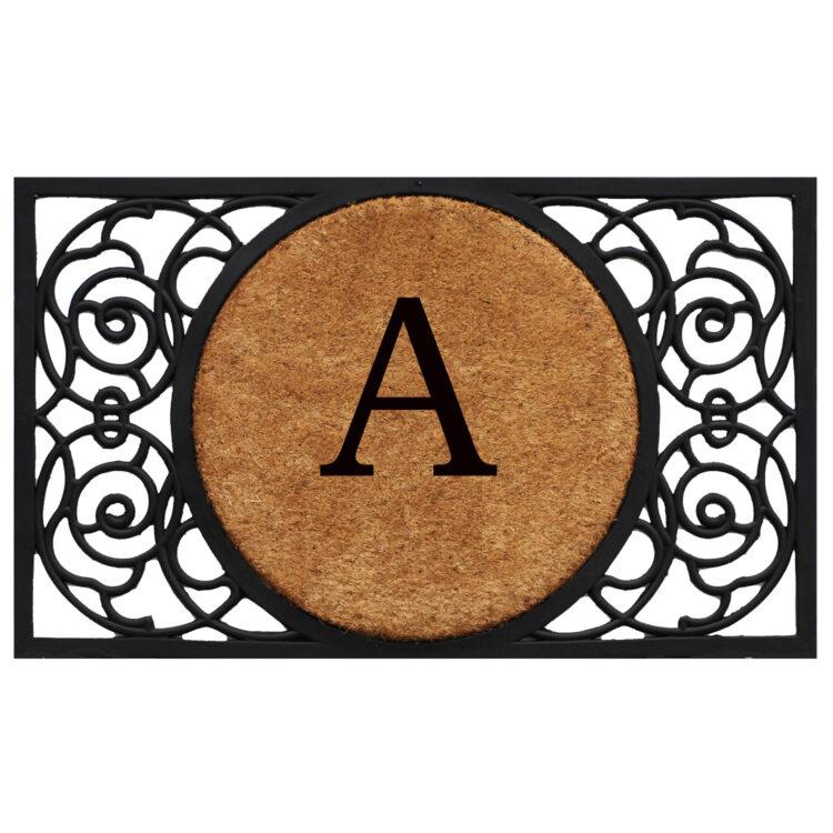 Armada Circle Monogram Doormat